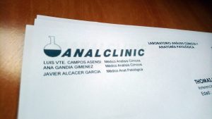 Letter with Analclinic letterhead